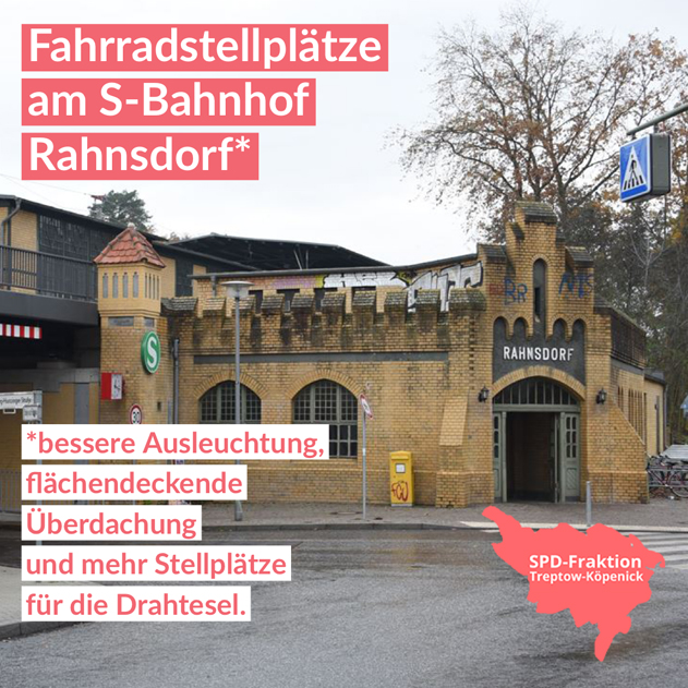 Fahrradstellplätze am S-Bahnhof Rahnsdorf