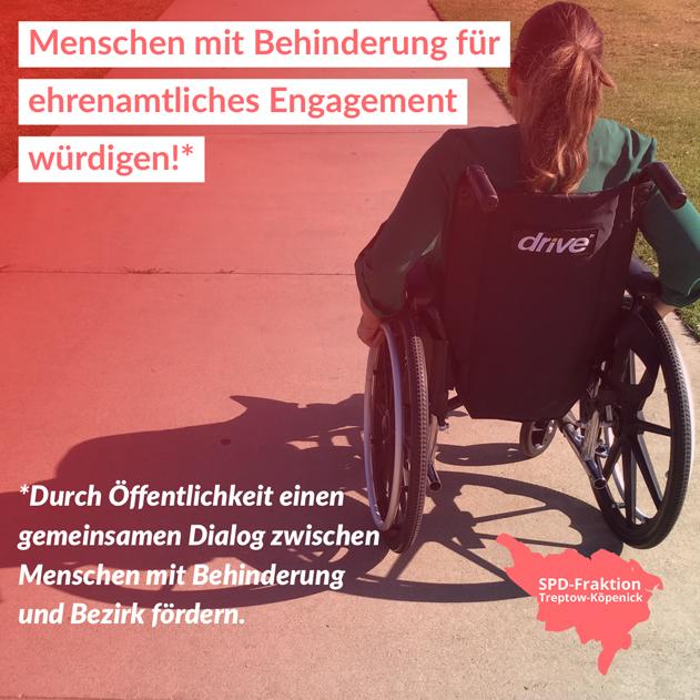 Menschen mit Behinderung für ehrenamtliches Engagement würdigen
