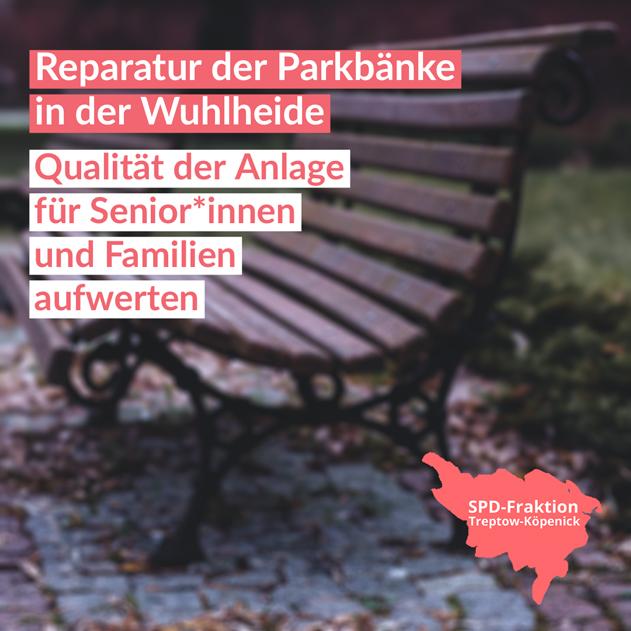 Reparatur Parkbänke Wuhlheide
